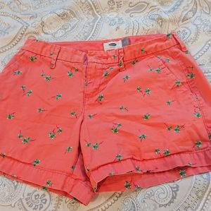 Old Navy Coral Palm Tree Shorts